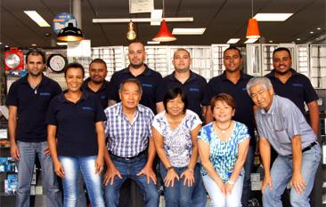 Líderes que fazem parte da equipe Histec